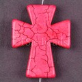 Free Shipping New without tags Fashion Jewelry 50x40MM Pink Cross Turquoise Pendant 1Pcs RK611