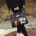 QSSH winter 2017 new personalized cartoon graffiti platinum Bag Tote Handbag Shoulder Bag Messenger Bag