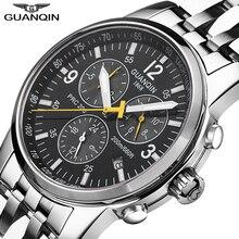 GUANQIN спортивные часы для мужчин лучший бренд класса люкс плавание автоматические часы мужские календарь 200 м водонепроницаемые светящиеся недели Relogio Masculino