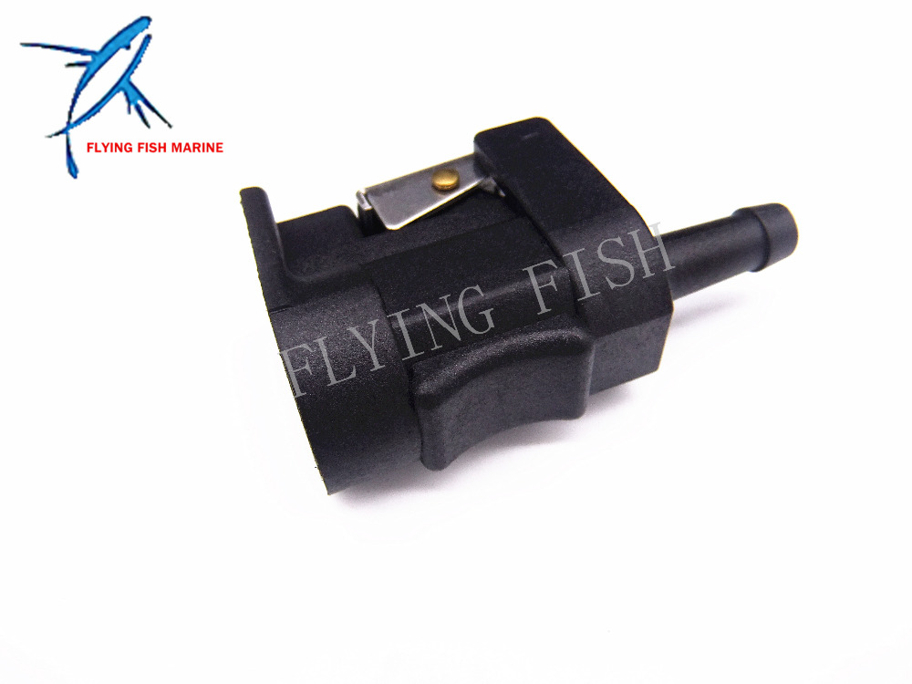 Female Fuel Pipe Connector 6E5-24305-06-00 for Yamaha Boat Motors , 8mm Engine Side