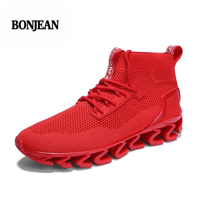 3160530e3 Marca de lujo Zapatillas Tenis Masculino 2018 nuevos hombres Cool aire  malla zapatos del deporte del