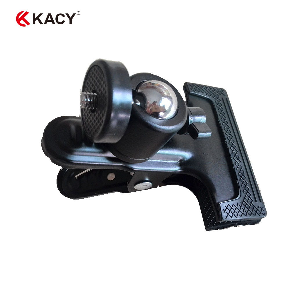 KACY CP001 Holder Adapter Clip KRAB Grip Mount Stand Tripod bracket for Camera flash light Clamp/Laser level measuring tools all metal cell phone holder mount bracket adapter clip for camera tripod 56 95mm dual use