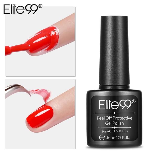 Elite99 8ML Ablösen Nagel Kunst Latex Häutchen Schutz Rosa Häutchen Protector Einfach Sauber Nagellack Schutz Finger Haut creme