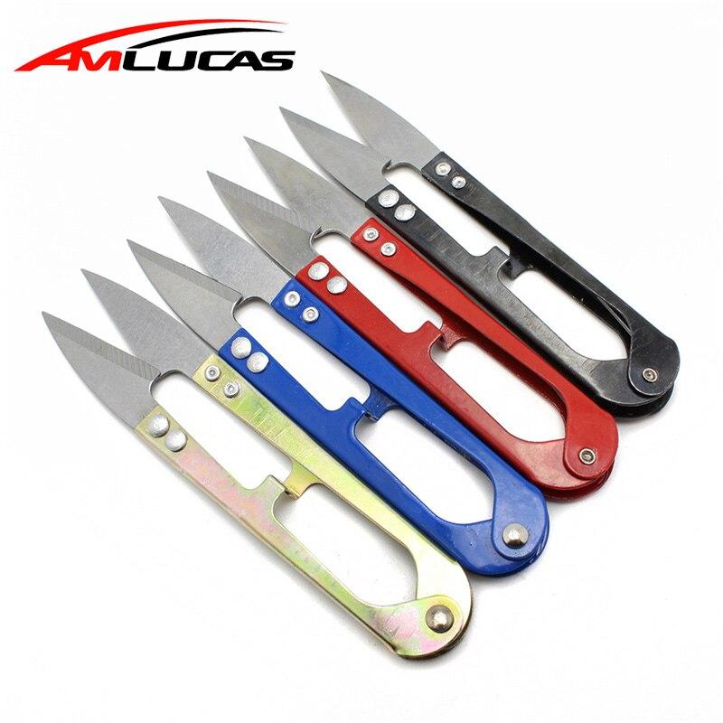 1pcs U-shaped Scissors For Fishing Stainless Steel Fish Use Scissors Accessories Cut Fishing Line Fishing Scissor Tackle WW279