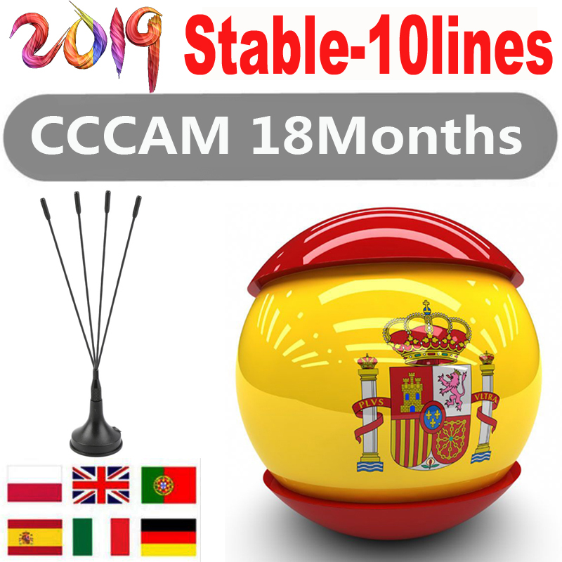 2019 Europe HD 1 Year cccams Spain Portugal Germany Poland Satellite tv Receiver(China)