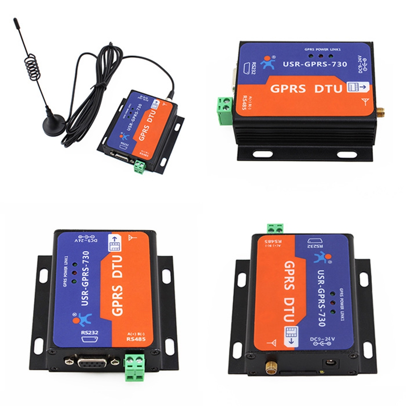 USR-GPRS232-730Free Shipping RS232 / RS485 GSM Modems Support GSM/GPRS GPRS to Serial Converter DTU Flow Control RTS CTS hf2111 serial to gprs rs232 rs485 rs422 to gprs converter module for industrial automation data transmission