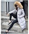 S-2XL Mujeres de Alta Calidad de Pieles Grande Con Capucha 90% de Pato Blanco invierno Gruesa Chaqueta Caliente Abajo Parkas Capa de Las Señoras Delgado Outcoat prendas de vestir exteriores