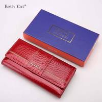 Women Wallets Long Wallets 2017 Fashion Wallet Women Genuine Leather Wallet Female Patchwork Womens Purse Coin