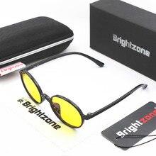 Brightzone Lightweight TR90 Oval Anti Blue Ray Gamer Glasses For Eye Strain Headache Computer Use Eyewear Men/Women Black