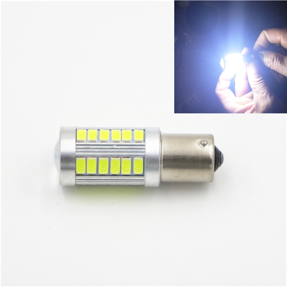 CYAN SOIL BAY White P21W 1156 BA15S 33smd Bulb 5730 33 SMD Turn DRL Car Backup Signal Light Fog Lamp 12V 24V cyan soil bay 10 x 9w 18mm 12v 24v blue led eagle eye light car fog drl daytime reverse backup parking signal bulb lamp