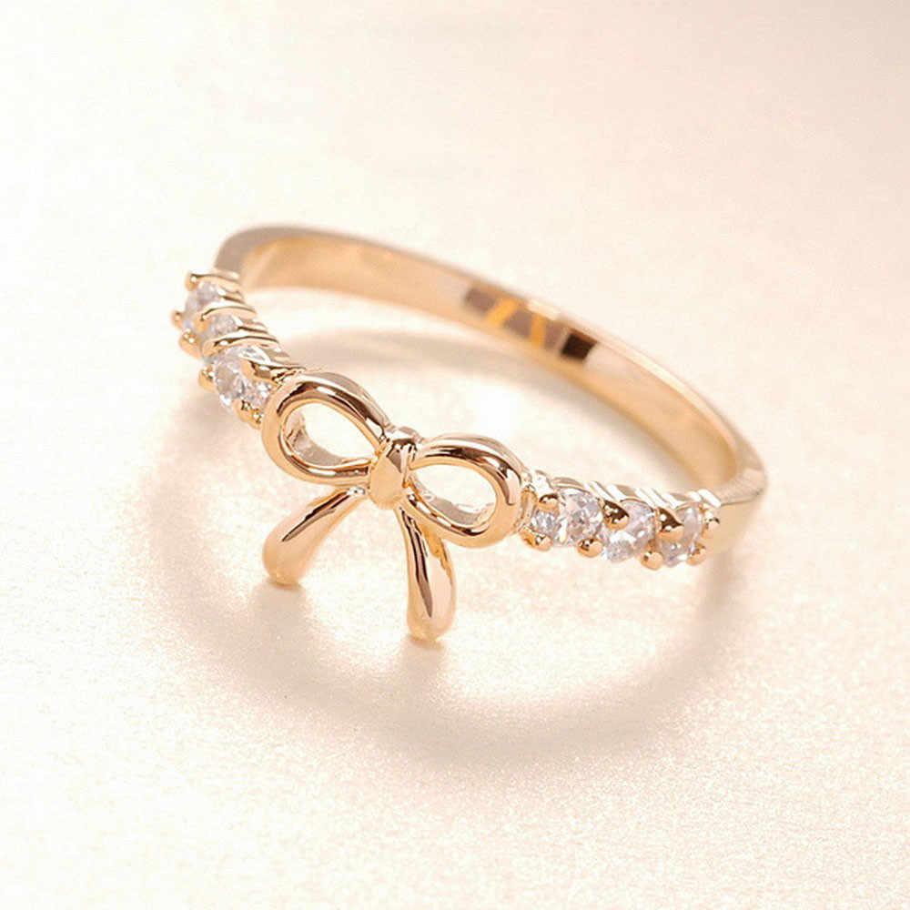 20 # kristall ringe Gold Splitter Farbe finger Bogen ring hochzeit engagement Zirkon Kristall Ringe frauen schmuck großhandel