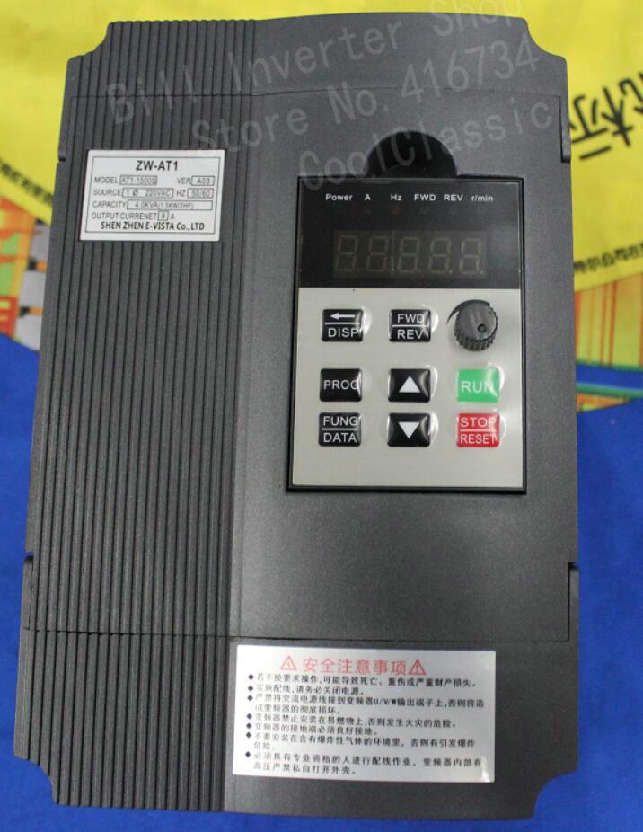 цена на VFD Inverter Converter CoolClassic ZW-AT1 1.5KW 3HP 220V 8A Free Shipping