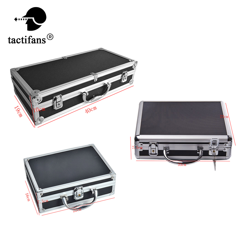 Tactifans Aluminum Alloy Locking Foam Gun Case for 1911 Glock Pistol Case Carrying Padded Foam Lining for Airsoft Hunting Case