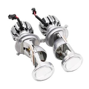 Image 4 - TAOCHIS 12 فولت 1.5 بوصة LED لمبة H4 جهاز عرض صغير عدسة المصباح للسيارة شعاع ثنائية LED عدسة مع مروحة التبريد سيارة ضوء الملحقات