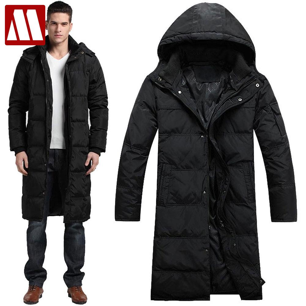 32ab93b80 US $76.38 45% OFF|2019 Men Winter Outdoors Long trench Coat Down Jacket  Thickening Hooded Army Green Parka Coats Free Shipping big size to XXXXL-in  ...