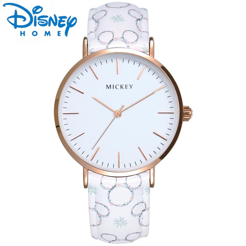 Disney Original Women Watches 2017 Famous Brand Mickey Mouse Watch Leather Strap Ultra Thin Case Simple Fashion Ladies Watch original disney brands girl pretty mickey mouse cartoon lovely watch best fashion casual simple quartz round leather watches