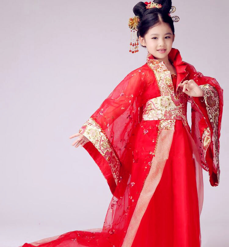 bf32f47bd 120 150cm Chinese Costumes Hanfu Girl Halloween Fancy Party Dress Cosplay  Stage Performance Clothes Red Pink Free Shipping-in Sets from Novelty &  Special ...