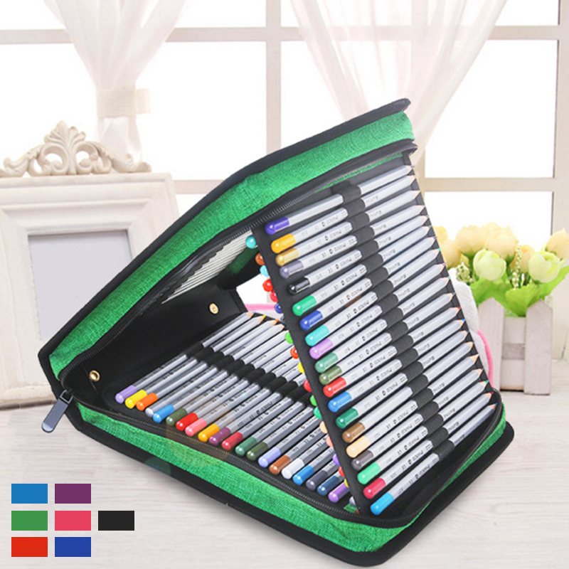 120 Holes Portable Markers Case Holder Waterproof Large Capacity Colored Pencil Bag For Art Supplies Student Gifts120 Holes Portable Markers Case Holder Waterproof Large Capacity Colored Pencil Bag For Art Supplies Student Gifts