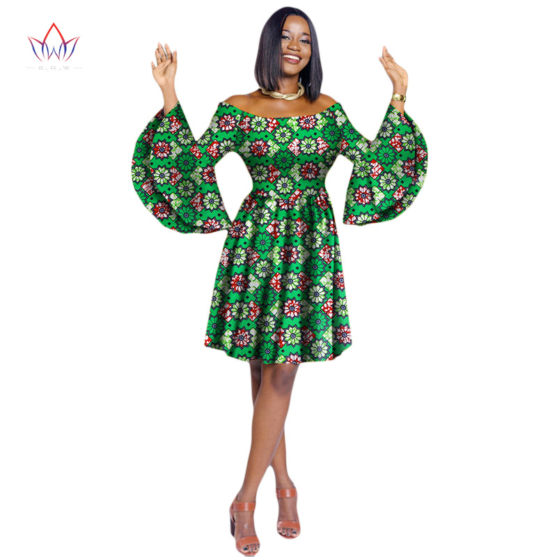 2018 Dashiki Dress Plus Size African Clothing Bazin Riche African Dress Women Ball Gown Princess Party Dress Vestidos WY2028 plus size butterfly print ball gown dress