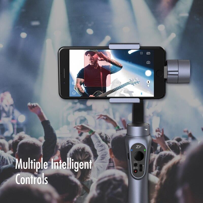 Zhiyun Liscia Q-Axis Handheld Gimbal Stabilizzatore Portatile per iPhone Samsung Smart phone Gopro Action Camera 5 4 3