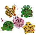 Дети образования раннего развития новинка дерево магнитный лабиринт на лабиринт игрушки случайным стиль