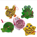 Kids Educational Early Development Novelty Wood Magnetic maze for maze Toys Random style