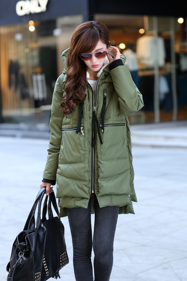 Free shipping Brand Ladies Fashion Thick Military Style Goose Down Jacket Parka Long Women's Winter Coats Outwear golden goose deluxe brand повседневные брюки