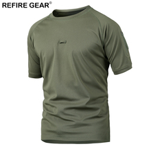 Refire Gear Outdoor Hunting Hiking T-Shirt Men Fishing Short Sleeve Quick Dry T Shirts Breathable Army Military Tactical Shirt outdoor cs wargame camouflage t shirt men long sleeve hunting tactical military army uniform hiking breathable military shirts