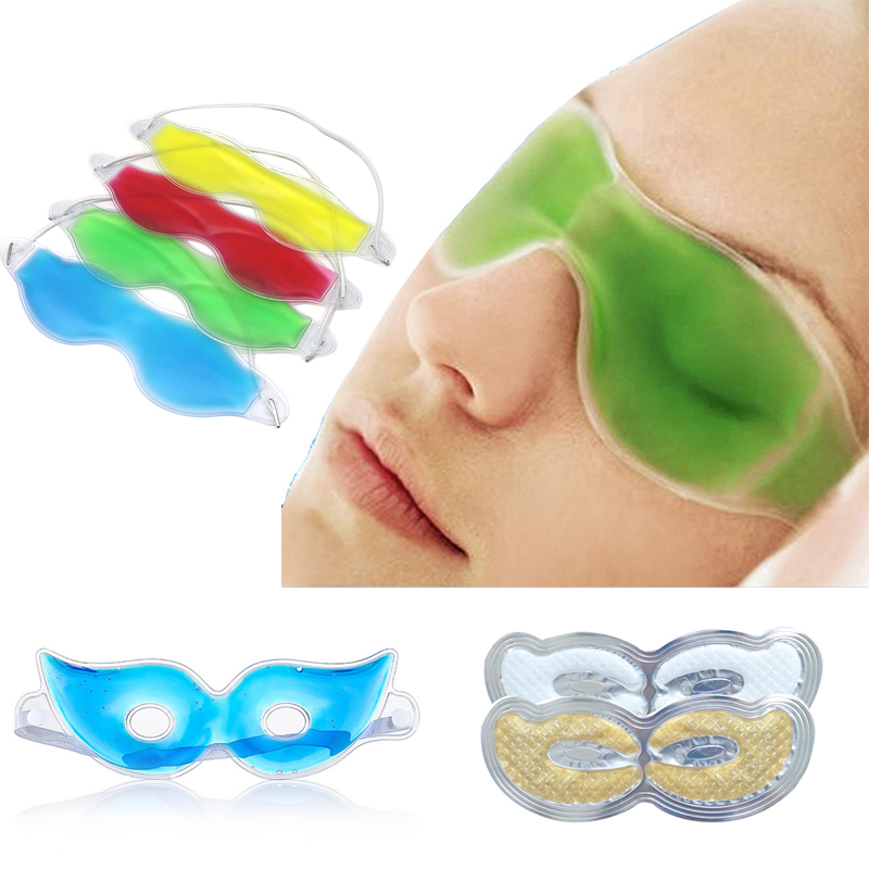 1pcs Gel Eye Mask Sleep Mask Summer Essential Beauty Ice Cooling Mask For Eye Patches Remove Dark Circles Fatigue Relief Eye Pad