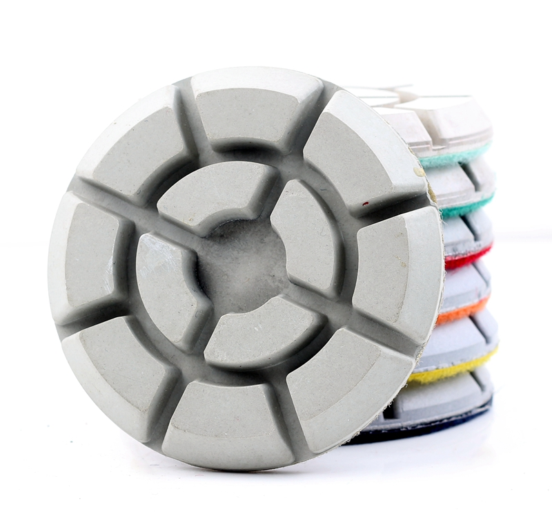 Free Shipping DC-TYFL02 Diamond 4 Inch 100mm Dry Or Wet Floor Polishing Pads For Stone Or Concrete Floor