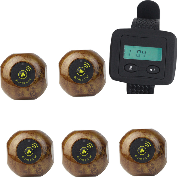 Смотреть беспроводной Приемник + Кнопка Вызова Пейджинговой Системы Пейджер Гость Ожидание Для Отеля Больницы Ресторанов Оборудование F3228A