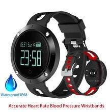 Модные Смарт-браслет DM58 Приборы для измерения артериального давления сердечного ритма Мониторы смарт-браслет для IOS Сна Деятельность Фитнес трекер Водонепроницаемый IP68