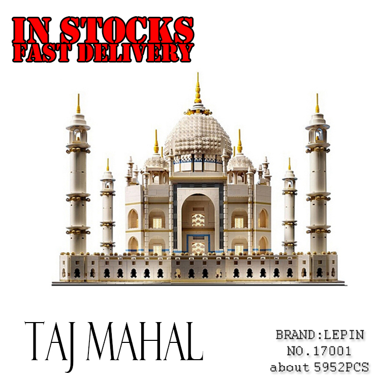 LEPIN 17001 5952Pcs The taj mahal Model Building Blocks Brick Kit figures Compatible Children Toy Gift 10189 the construction of taj mahal tourism 3d cubic life manual paper card card creative stereo