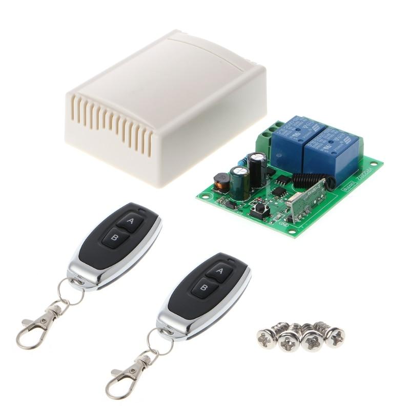 AC 250V 110V 220V 2CH Relay 433Mhz Universal Wireless Remote Control Switch Receiver Module R06 Drop Ship ac 250v 20a normal close 60c temperature control switch bimetal thermostat