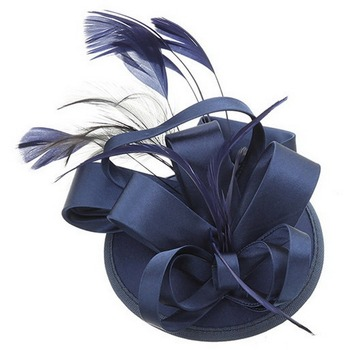 Fascinator Headbands Hats Feathers for Women Tea Party Wedding Derby Hair Decoration Blue 1