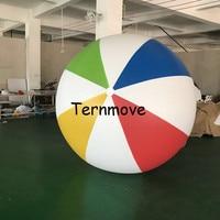 2,5 м (98 дюймов) 3 м гигант ПВХ Радуга надувной пляжный мяч красочные пляжный мяч для воды играть в игры бассейн Fun пляж плавание плавать