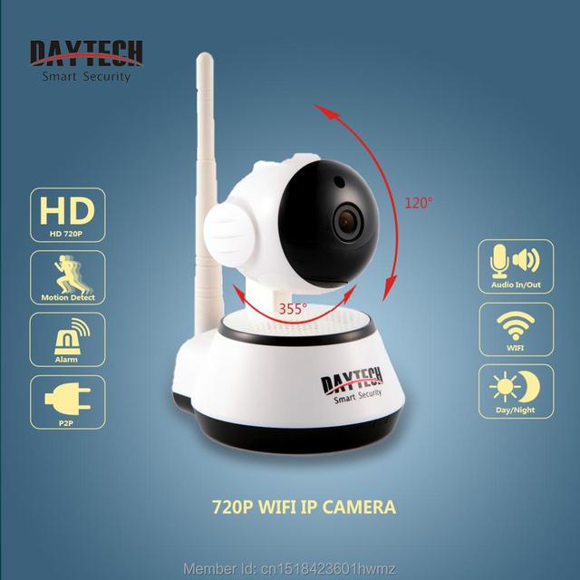 Daytech wifi ip câmera night vision motion detectar monitor de p2p wifi rede cctv home security camera cam dt-c8815 remoto móvel