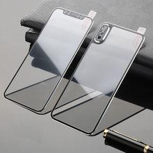 Capa de vidro temperado para celulares apple, cobertura frontal e traseira para iphone x, 11pro max xs max xr