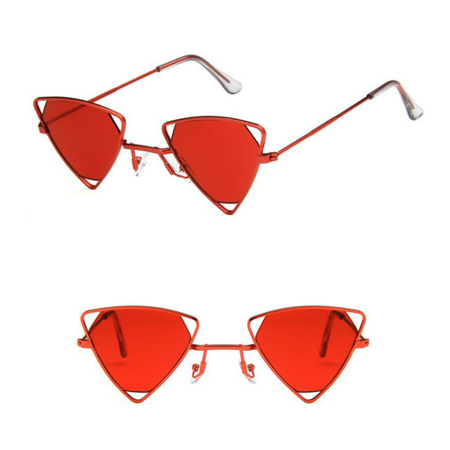 Yoovos 2019 New Punk Sunglasses Women Triangle Oculos New Vintage Glasses Openwork Metal Frame Fashion Sun Glasses Men Okulary