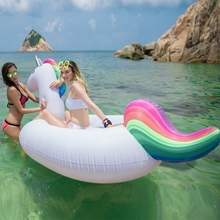 270cm Giant Unicorn Inflatable ride-on Pool Float Swimming pool mattress Inflatable Unicorn Swan Island Floating Beach Lounger 70 inch 1 9m giant swan pvc inflatable pink flamingo ride on pool floating toy swim mat for adult child float chair pf025