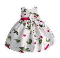 Bébé filles robe de princesse cerise imprimer robes de fête de mariage enfants vêtements robe fille vetement enfant fille 2-6T