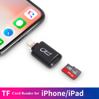 card reader BRU Portable Tf Card Reader For Iphone Ipad Ipod New Mini Lightning Cardreader External Micro Tf Memory For Ios 8 And Above (2)