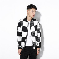 Quick Delivery 2017 New Spring Autumn Fashion Short Coats College Hip Hop Jacket Casual Mens Jackets