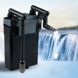 Многослойный внешний подвесной фильтр, фильтр для водяного насоса, циркуляция воды, сохранение пространства для аквариума, регулировка рас...