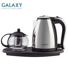 Чайник электрический Galaxy GL 0401 (Мощность 2035 Вт, объем металлического чайника 1.8 л, объем стеклянного заварочного чайника 1 л)
