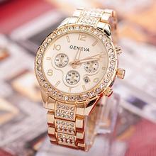 Роскошные женские часы, часы из розового золота, женские модные стразы, полностью стальные женские металлические часы, relogio feminino horloge dames
