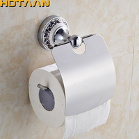 Hot Sale Wholesale And Retail Promotion NEW Ceramic Chrome Brass Wall Mounted Toilet Paper Holder Waterproof