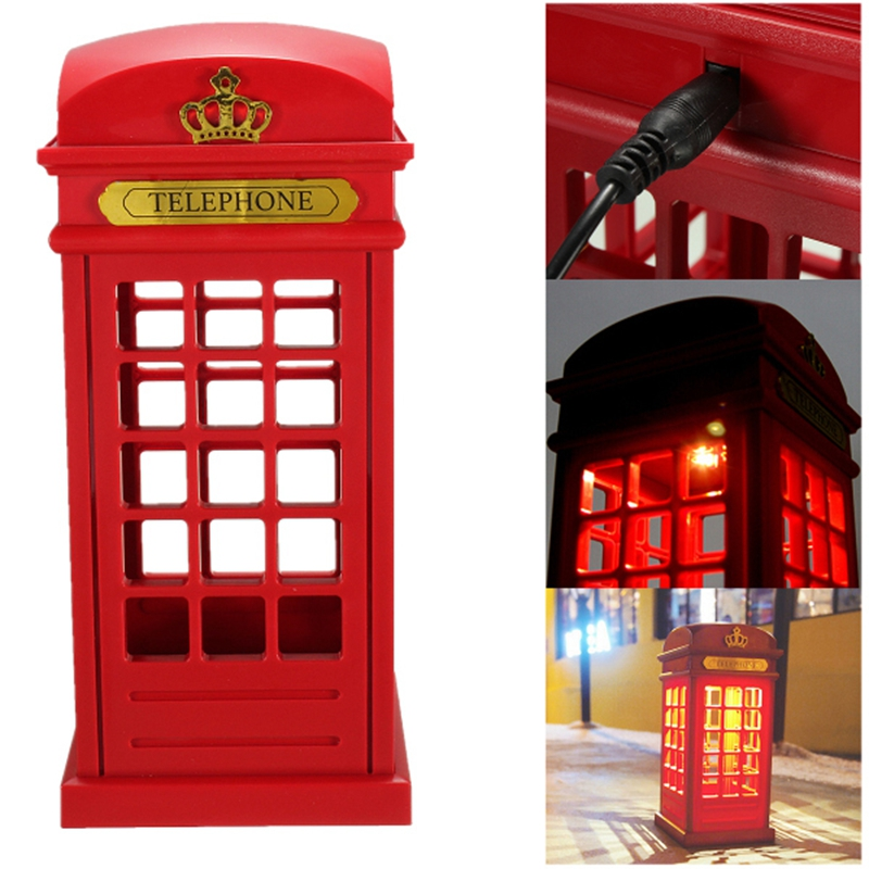 USB Rechargeable Touch Telephone Booth LED Light Desk Lamp Adjustable Lighting ...