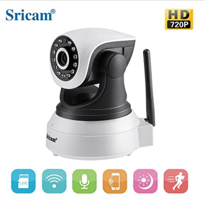 Original Camera Sricam SP017 P2P Sem Fio 720 P IR-Cut Night Vision Camera Baby Monitor WIFI Áudio CCTV Onvif Interior câmera de segurança IP