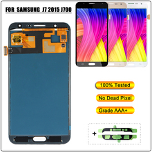 купить LCD Display for Samsung Galaxy J7 2015 J700 J700F J700H Touch Screen Digitizer Assembly LCD Screen Replacement for Samsung J700M недорого